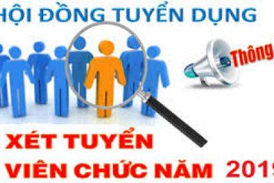 Kết quả trúng tuyển viên chức huyện Tân Hiệp năm 2019